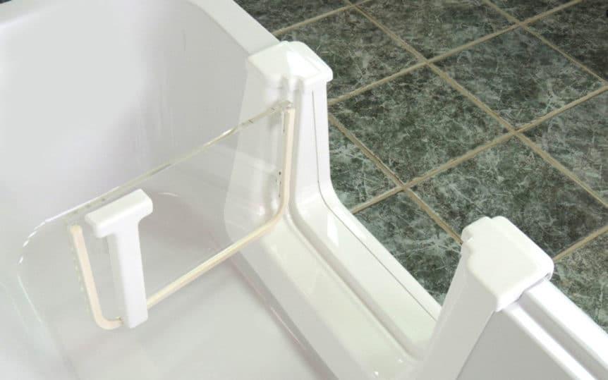 Transparente Tür
