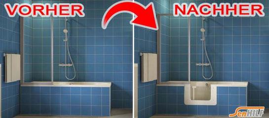 Bild zeigt Umbau Badewanne